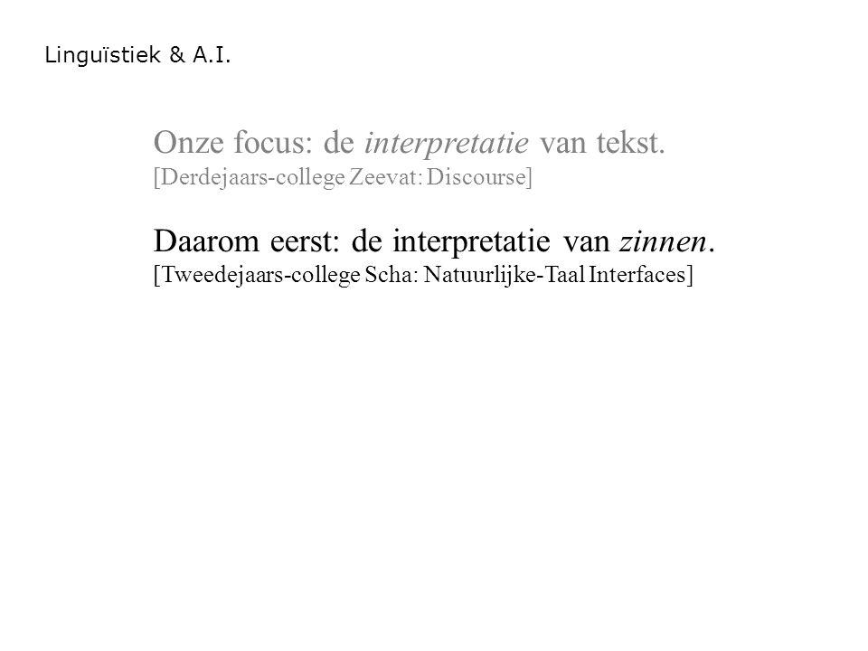 Onze focus: de interpretatie van tekst.