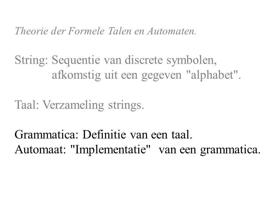 Theorie der Formele Talen en Automaten.