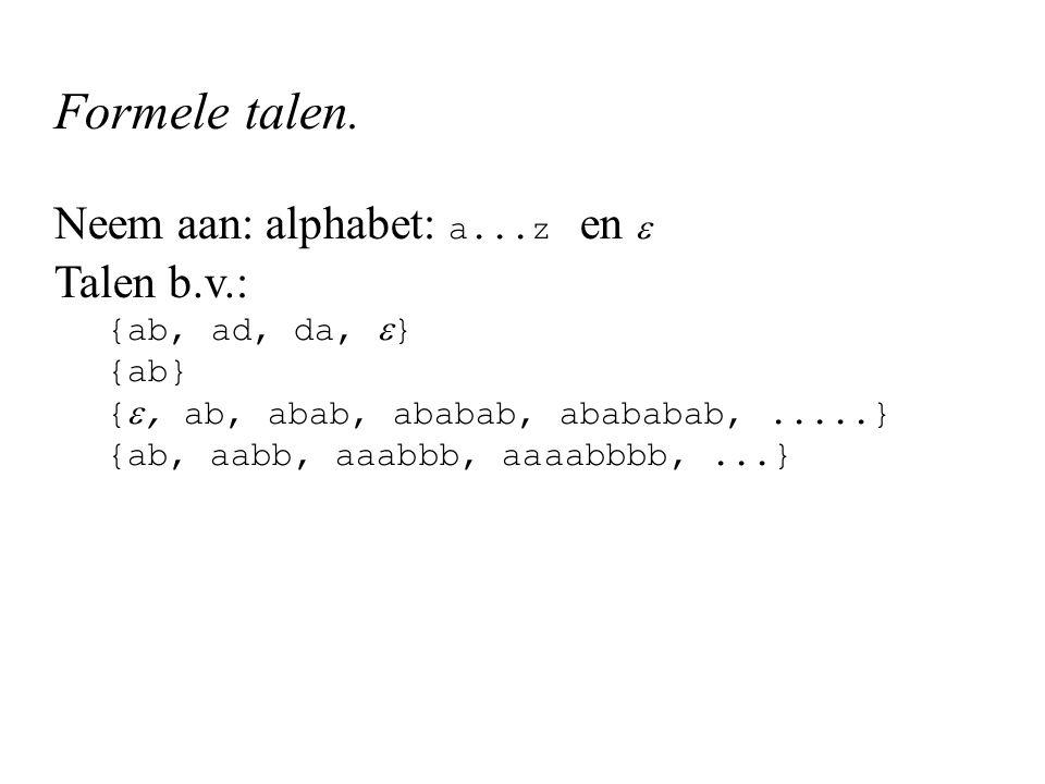 Formele talen.