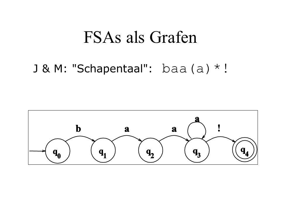 FSAs als Grafen J & M: Schapentaal : baa(a)*!