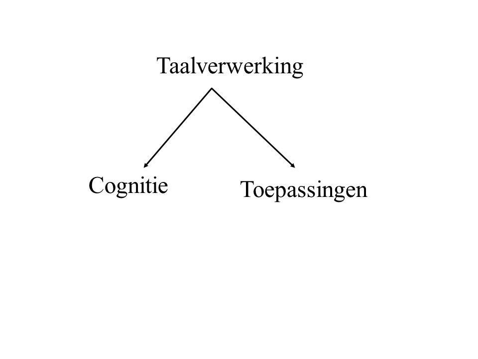 Taalverwerking Cognitie Toepassingen