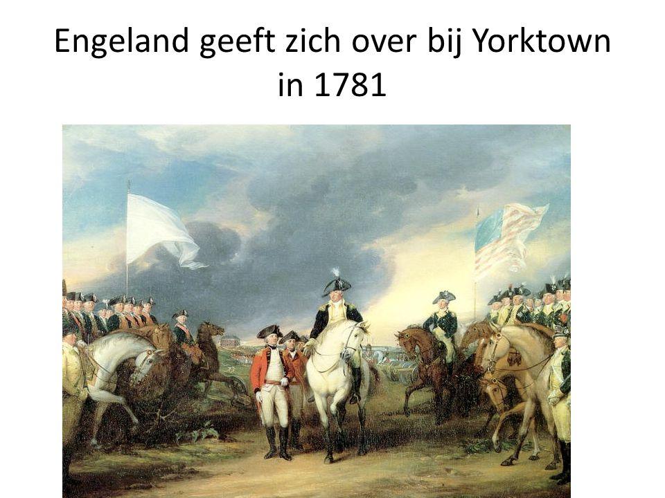 Engeland geeft zich over bij Yorktown in 1781
