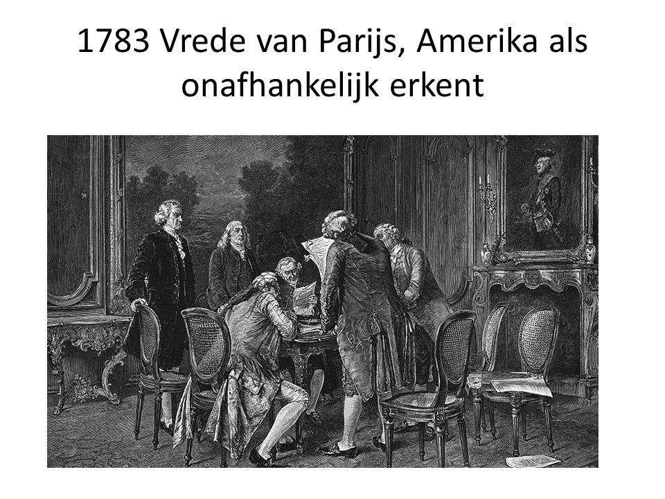 1783 Vrede van Parijs, Amerika als onafhankelijk erkent