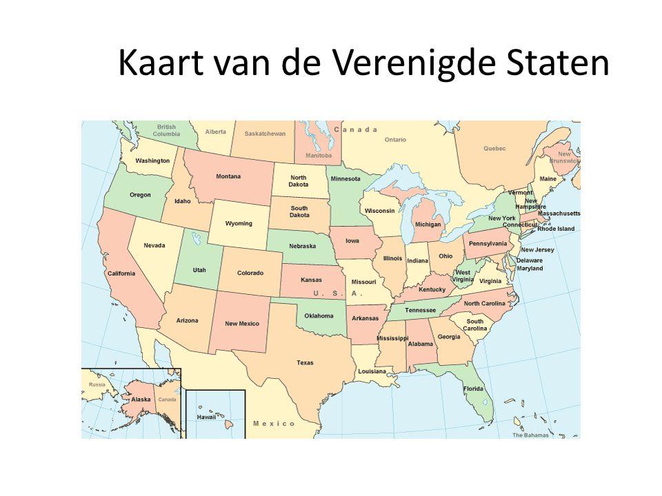 Kaart van de Verenigde Staten
