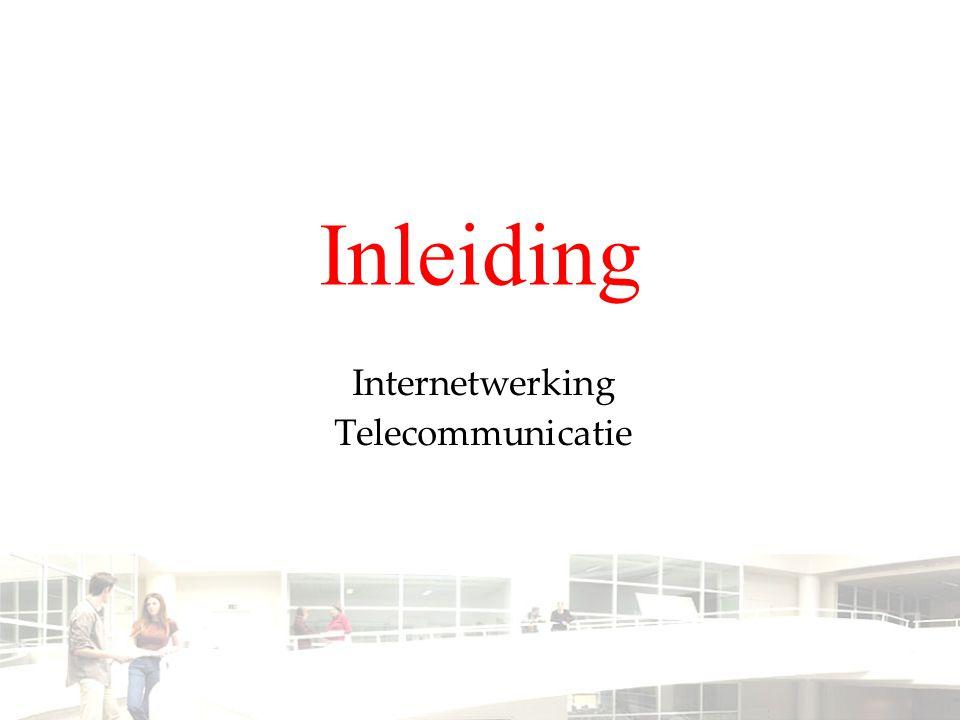 Inleiding Internetwerking Telecommunicatie