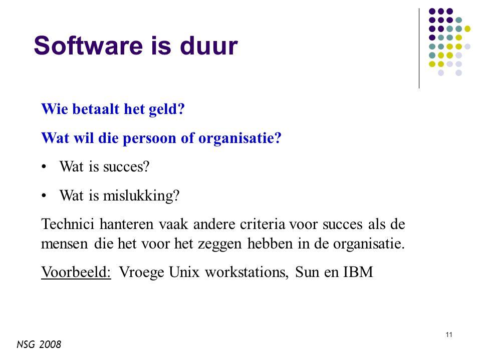 NSG 2008 11 Software is duur Wie betaalt het geld.