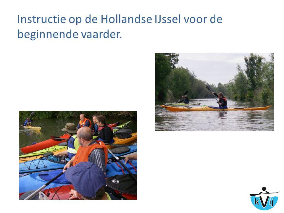 Instructie op de Hollandse IJssel voor de beginnende vaarder.