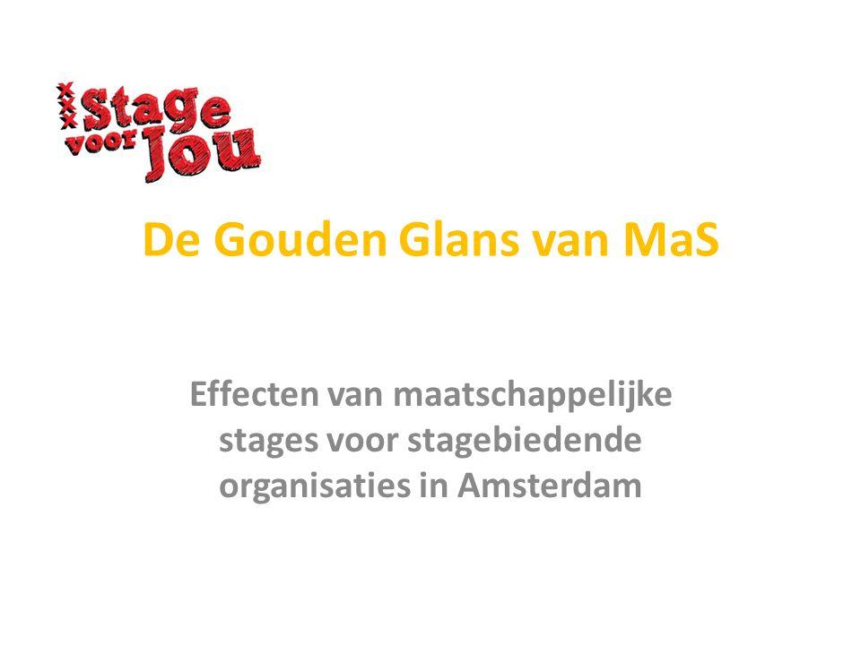 De Gouden Glans van MaS Effecten van maatschappelijke stages voor stagebiedende organisaties in Amsterdam