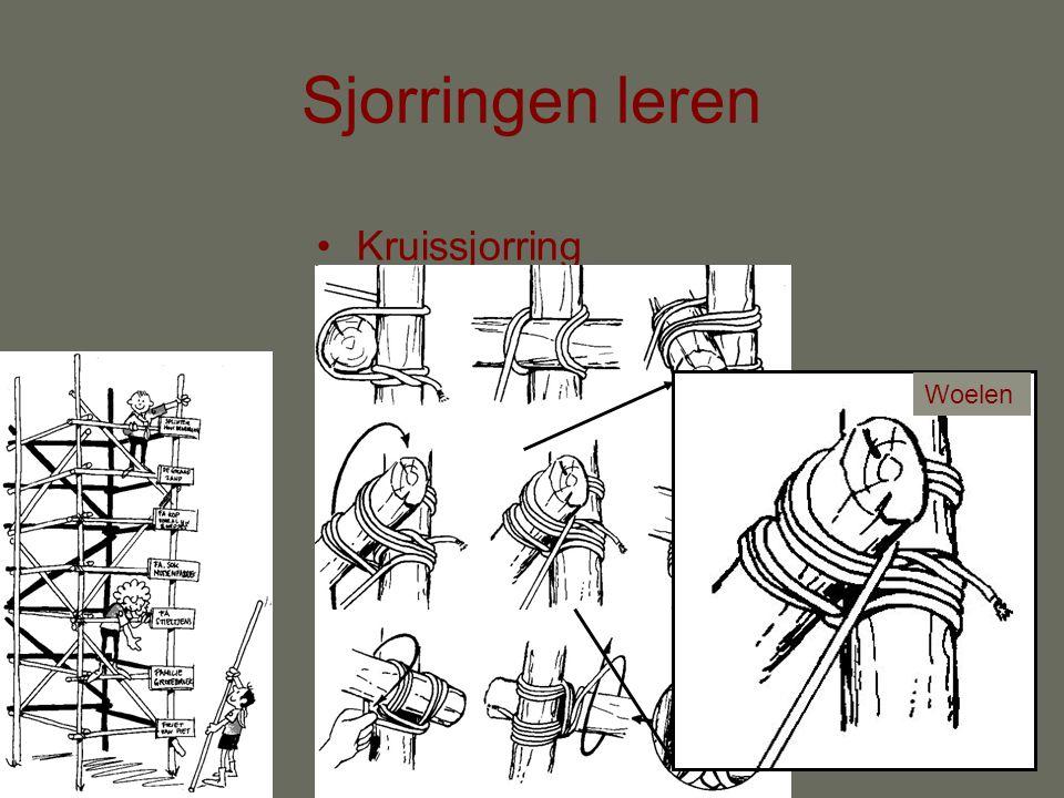 Sjorringen leren Kruissjorring Overal 3 touwen