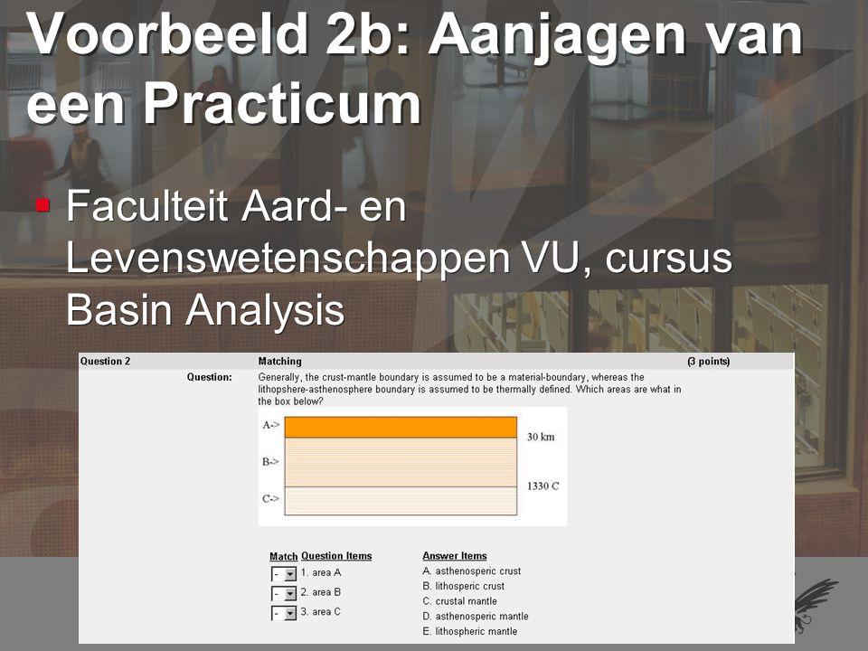 34 Voorbeeld 3a: Actieve verwerking van collegestof  Faculteit Pedagogiek en Psychologie VU, cursussen Algemene Methodologie en Functieleer