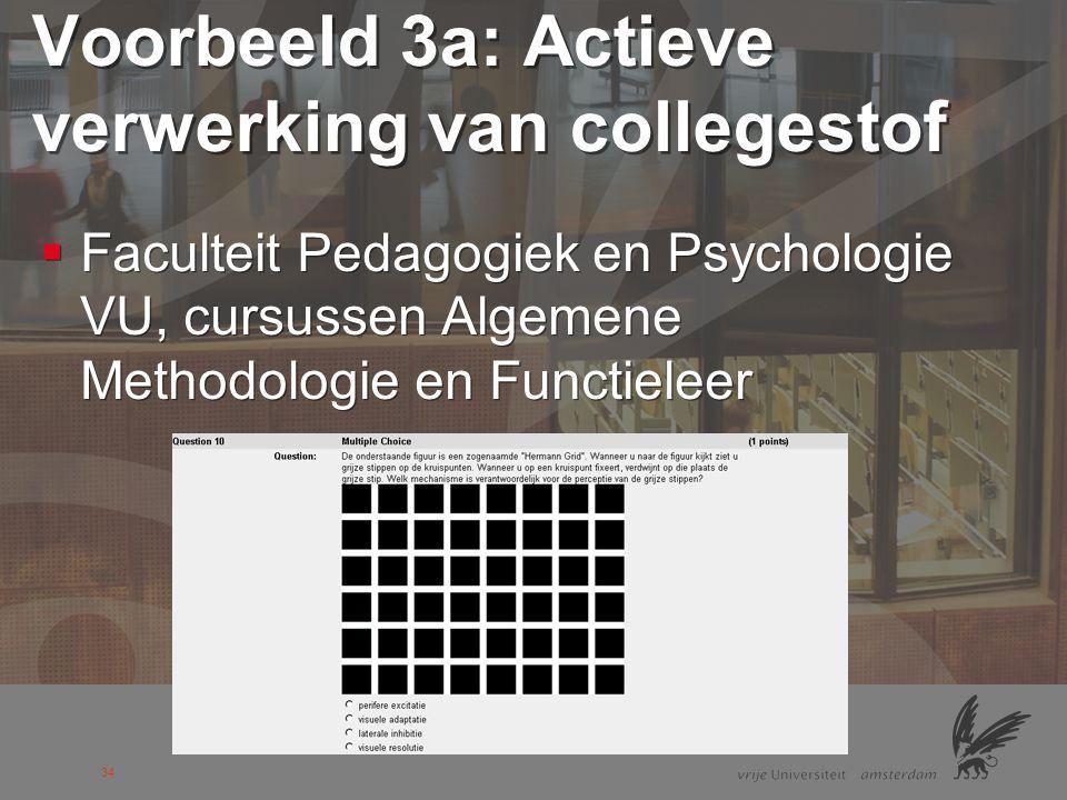 35 Voorbeeld 4a: Collegeverbeteraar  Faculteit Pedagogiek en Psychologie VU, cursus Historische Pedagogie