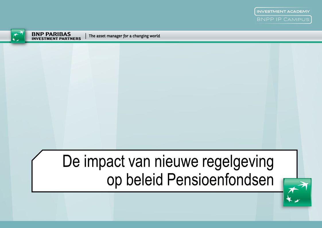 De impact van nieuwe regelgeving op beleid Pensioenfondsen