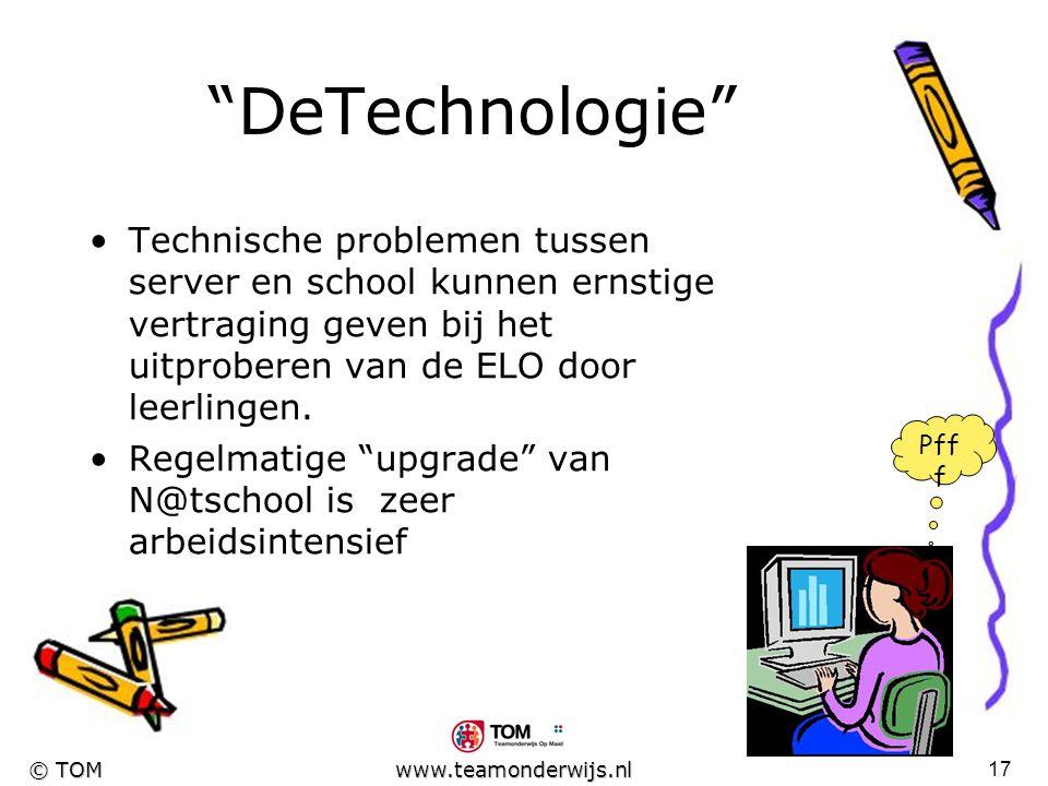 16 © TOM www.teamonderwijs.nl Het resultaat