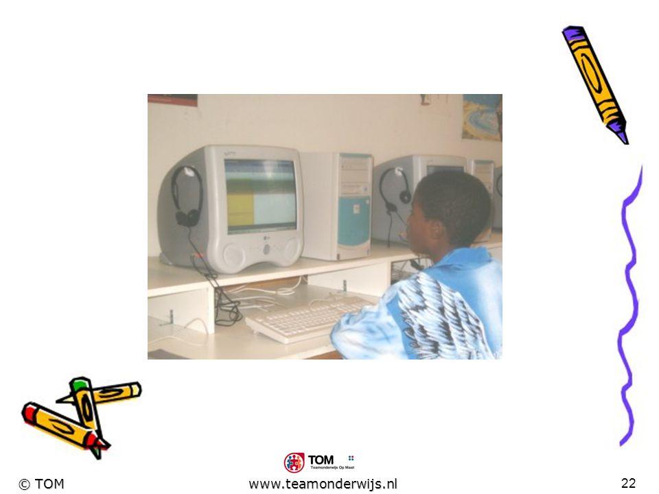 21 © TOM www.teamonderwijs.nl