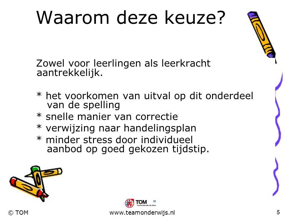 4 © TOM www.teamonderwijs.nl Van brainstorm naar idee Binnen n@tschool voorbeeldlessen bekeken. Op voorstel gezocht naar mogelijkheden binnen de metho