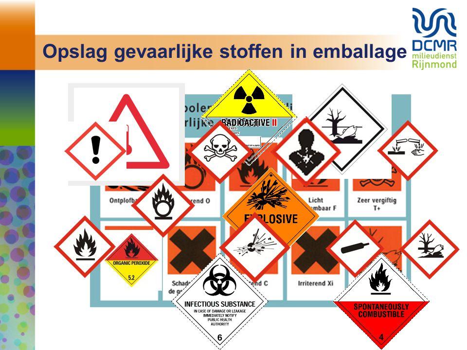 Opslag gevaarlijke stoffen in emballage