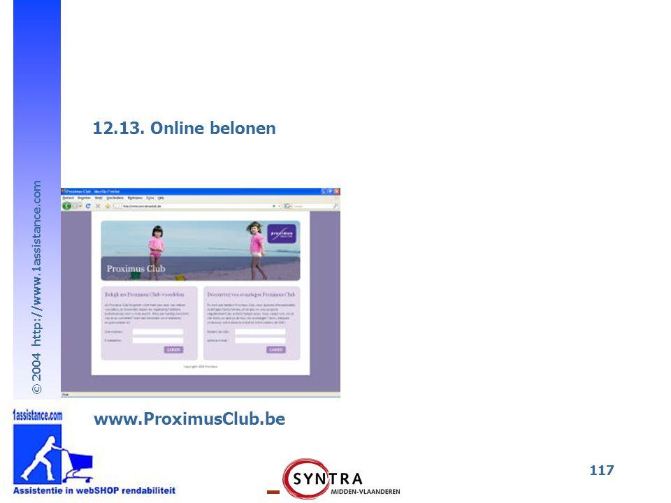 © 2004 http://www.1assistance.com 117 12.13. Online belonen www.ProximusClub.be