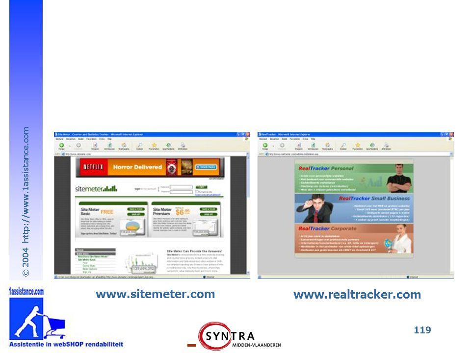 © 2004 http://www.1assistance.com 119 www.sitemeter.com www.realtracker.com