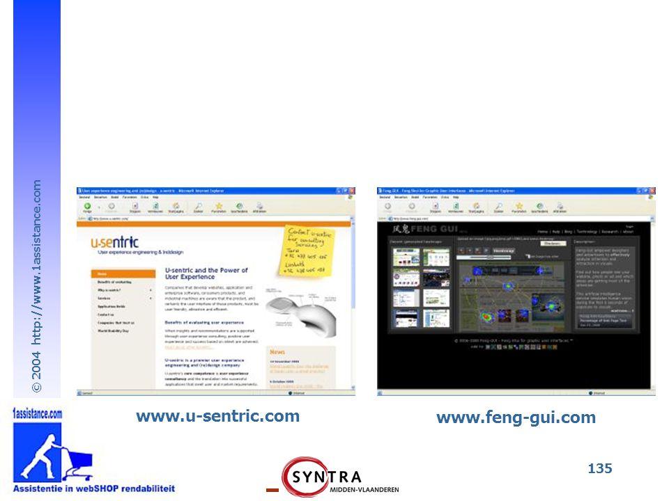 © 2004 http://www.1assistance.com 135 www.feng-gui.com www.u-sentric.com