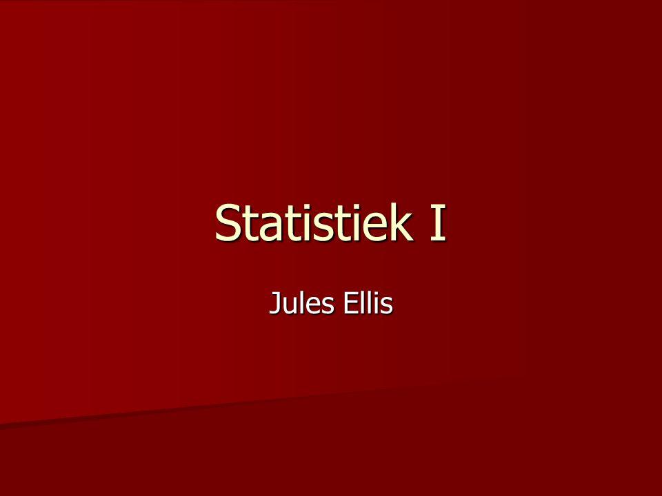 Cursusinformatie Cursusinformatie –Zie Blackboard > Course Documents –Studiematerialen –Onderwijsvormen –Tentamen –Tentamenopdrachten (compensatieregel) –Huiswerk Statistiek en psychologie Statistiek en psychologie –Plaats van de statistiek in de psychologie –Voorbeeld –Waarom statistiek –Het leren van statistiek Datamatrix en variabelen Datamatrix en variabelen Mediaan en kwartielen Mediaan en kwartielen