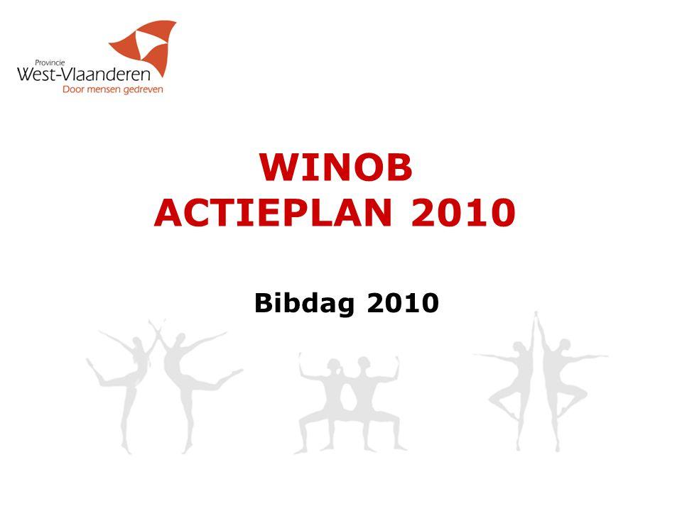 Voorstelling actieplan  WINOB-team  Publiekswerking - Circuits  Publiekswerking – Projecten  Netwerking  RFID  Gedecentraliseerd bibliotheekwerk  Bibliotheekspreiding  Collectiebeleid
