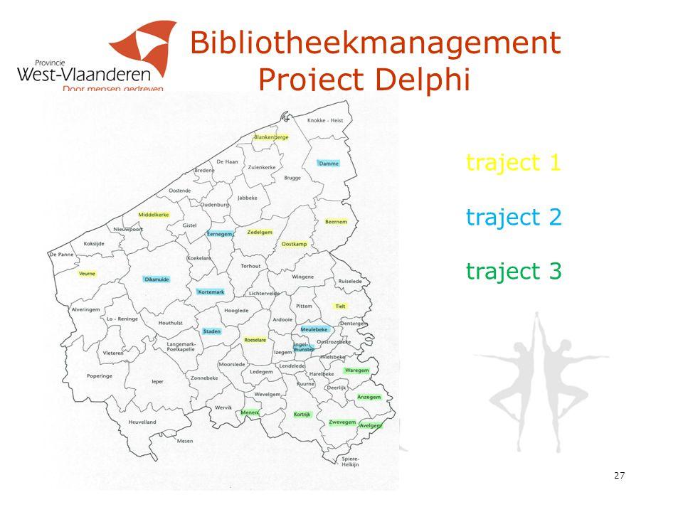 Bibliotheekmanagement Project Delphi 12/7/1427 traject 1 traject 2 traject 3