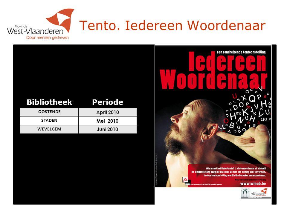 Bibliotheektechnologie Integraties 2010  22/02/2010 - 26/02/2010: Staden  19/04/2010 - 23/04/2010: Jabbeke  14/06/2010 - 18/06/2010: Langemark- Poelkapelle  13/09/2010 - 17/09/2010: Wevelgem  25/10/2010 - 29/10/2010: Oudenburg  22/11/2010 - 26/11/2010: Tielt