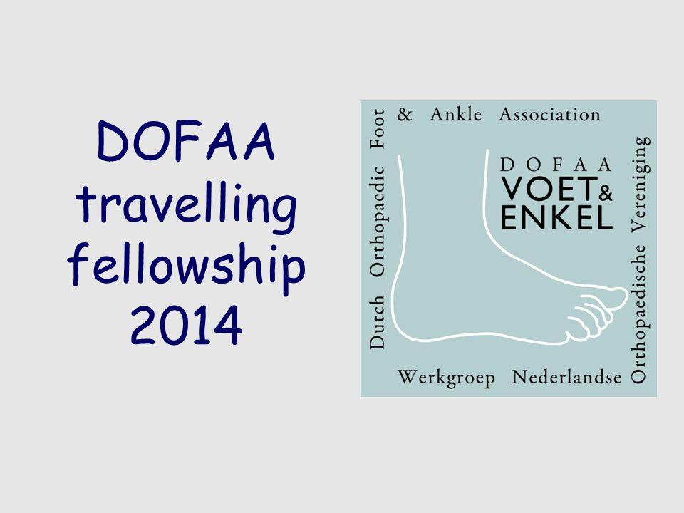 DOFAA travelling fellowship 2014