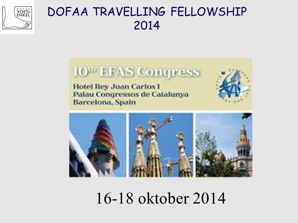 DOFAA TRAVELLING FELLOWSHIP 2014 16-18 oktober 2014