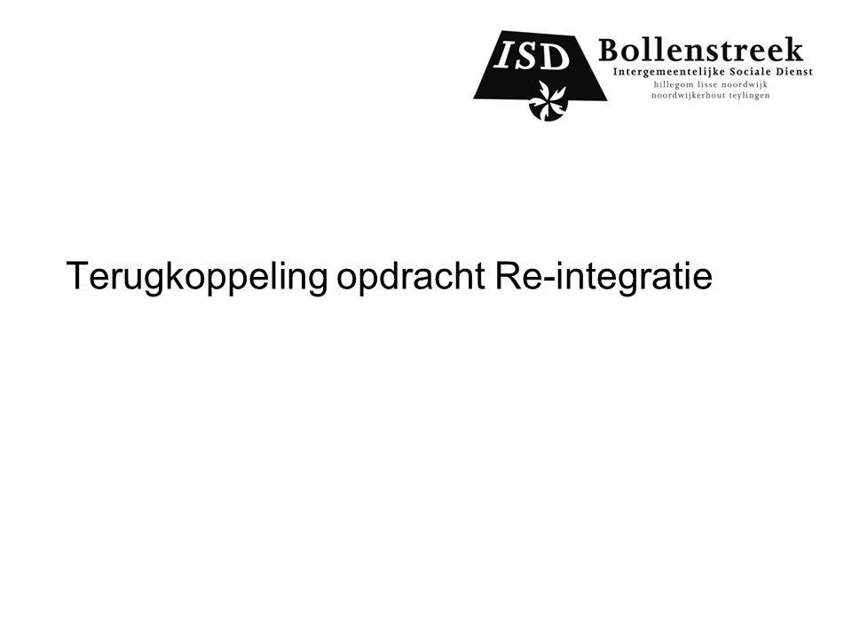 Terugkoppeling opdracht Re-integratie