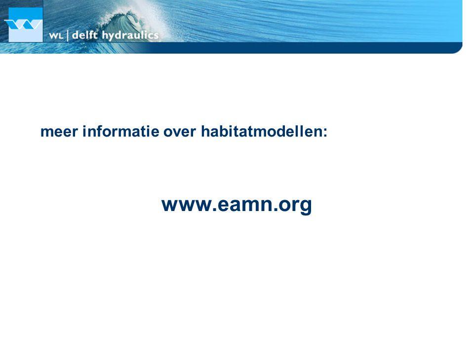 meer informatie over habitatmodellen: www.eamn.org