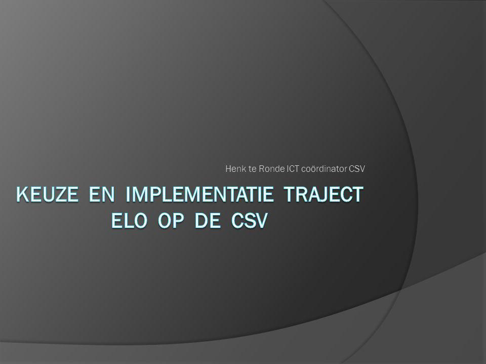 Henk te Ronde ICT coördinator CSV