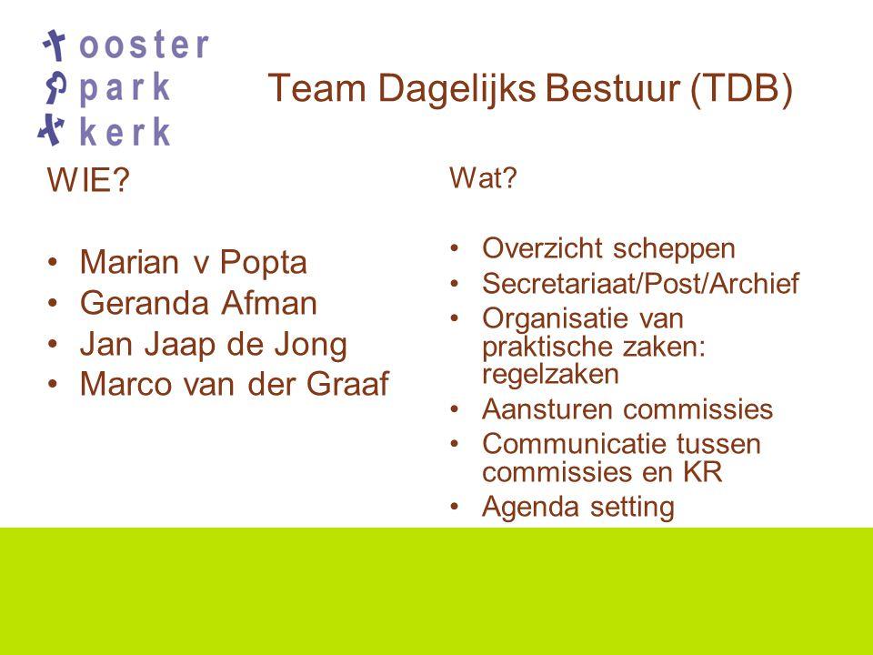 Team Dagelijks Bestuur (TDB) WIE.