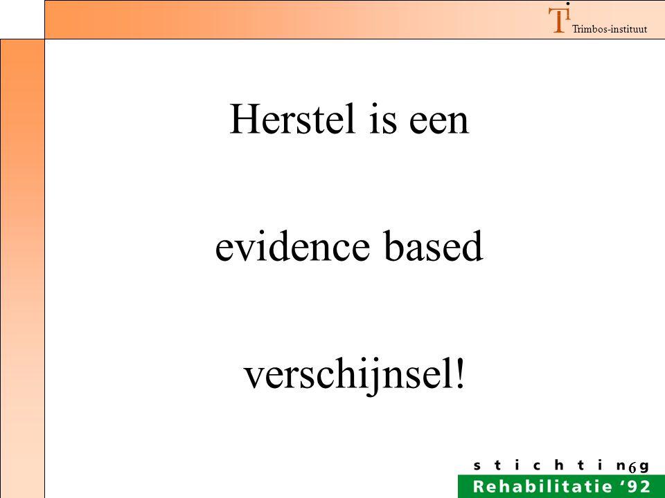 Trimbos-instituut 6 Herstel is een evidence based verschijnsel!