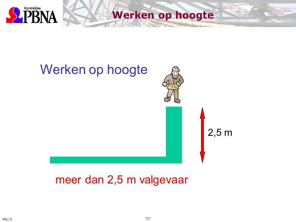 2,5 m Werken op hoogte meer dan 2,5 m valgevaar Werken op hoogte 121 6652_700