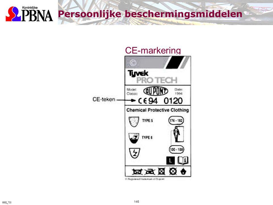CE-markering 145 6652_700 Persoonlijke beschermingsmiddelen