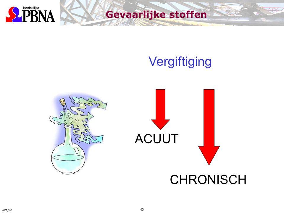 Vergiftiging ACUUT CHRONISCH Gevaarlijke stoffen 43 6652_700