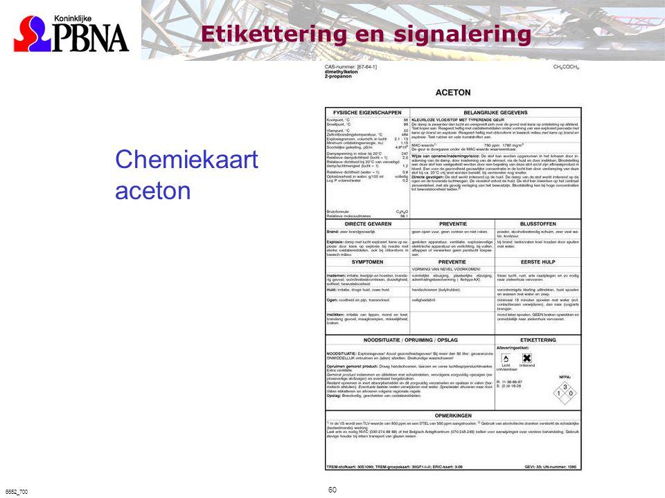 Chemiekaart aceton Etikettering en signalering 60 6652_700