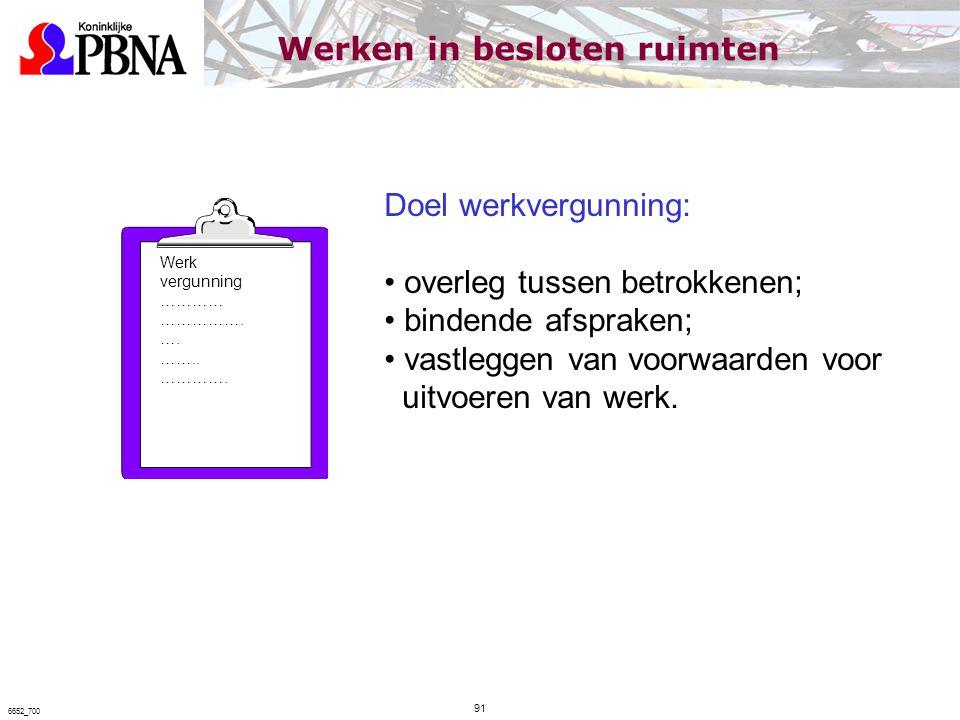 Werk vergunning ………… ……………. …. …….. …………. Doel werkvergunning: overleg tussen betrokkenen; bindende afspraken; vastleggen van voorwaarden voor uitvoer