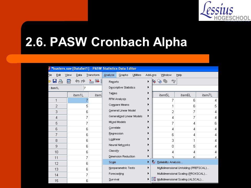 2.6. PASW Cronbach Alpha