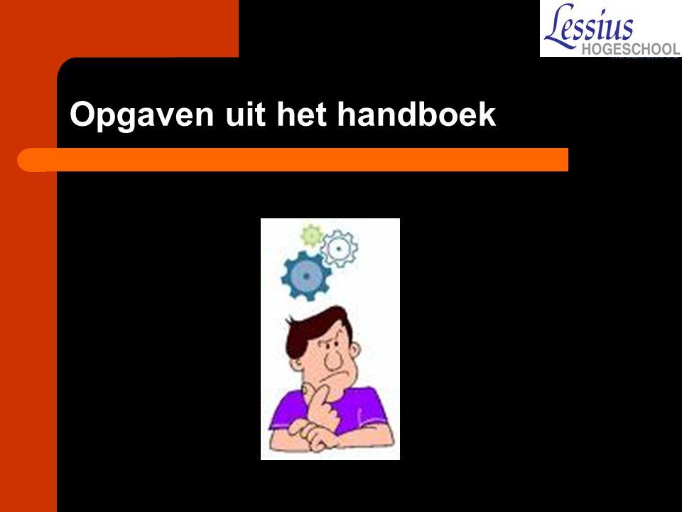Opgaven uit het handboek