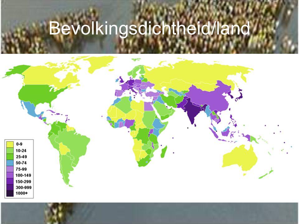 Bevolkingsdichtheid/land