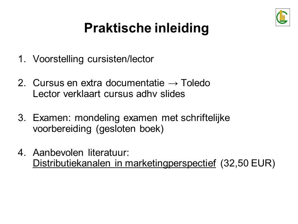 Analyse van het distributiefenomeen Ter situering van de module en ter afstemming m.b.t.