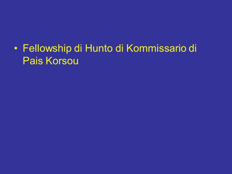 Fellowship di Hunto di Kommissario di Pais Korsou