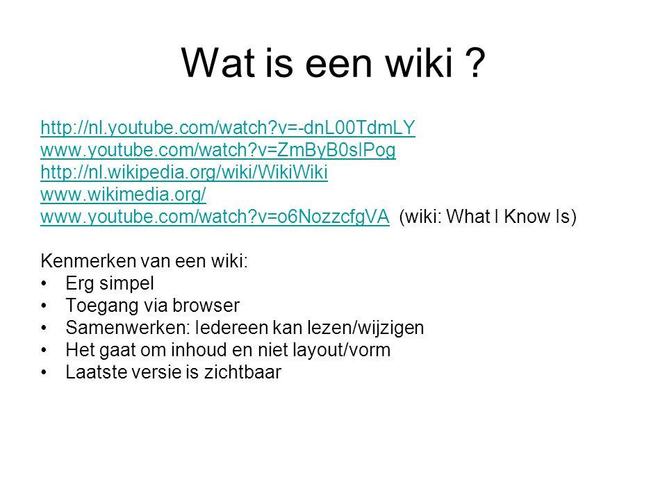 Wat is een wiki .