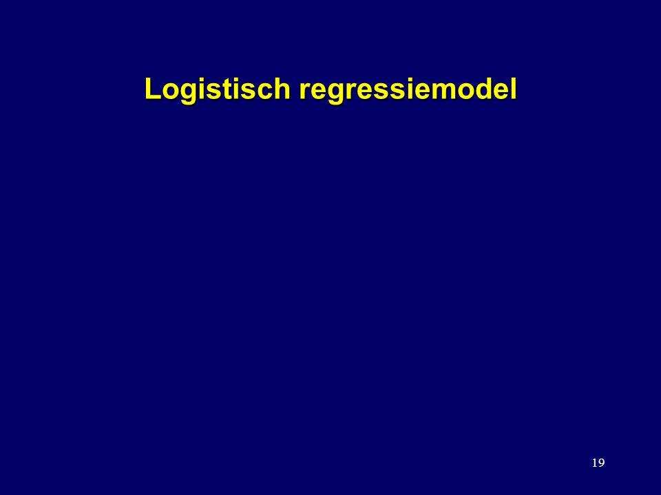 19 Logistisch regressiemodel sgewijze logistische regressie lll