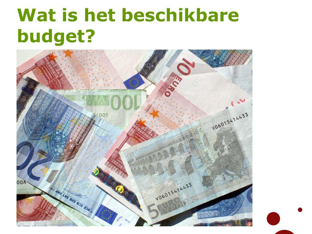 Wat is het beschikbare budget?