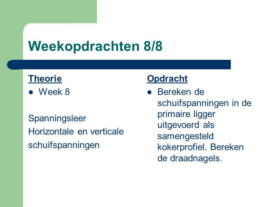 Weekopdrachten 7/8 Theorie Week 7 rechthoekige doorsnedes standaardprofielen Opdracht Bepaal de traagheidsmoment van de liggers en bereken de vervormi