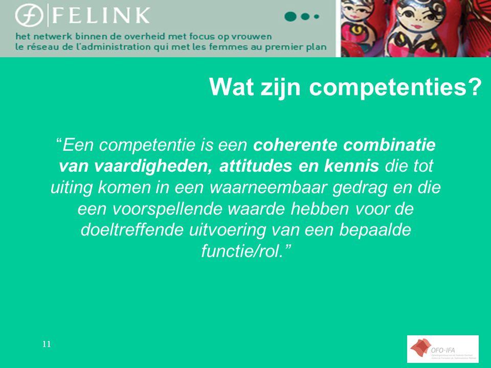 11 Wat zijn competenties.