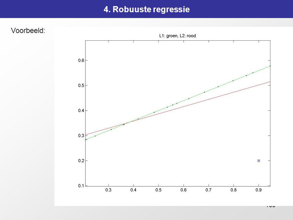 169 4. Robuuste regressie Voorbeeld: